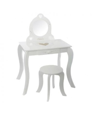 Coiffeuse + Tabouret blanche